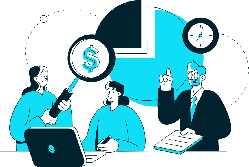 Illustration Depicting Cost and Revenue