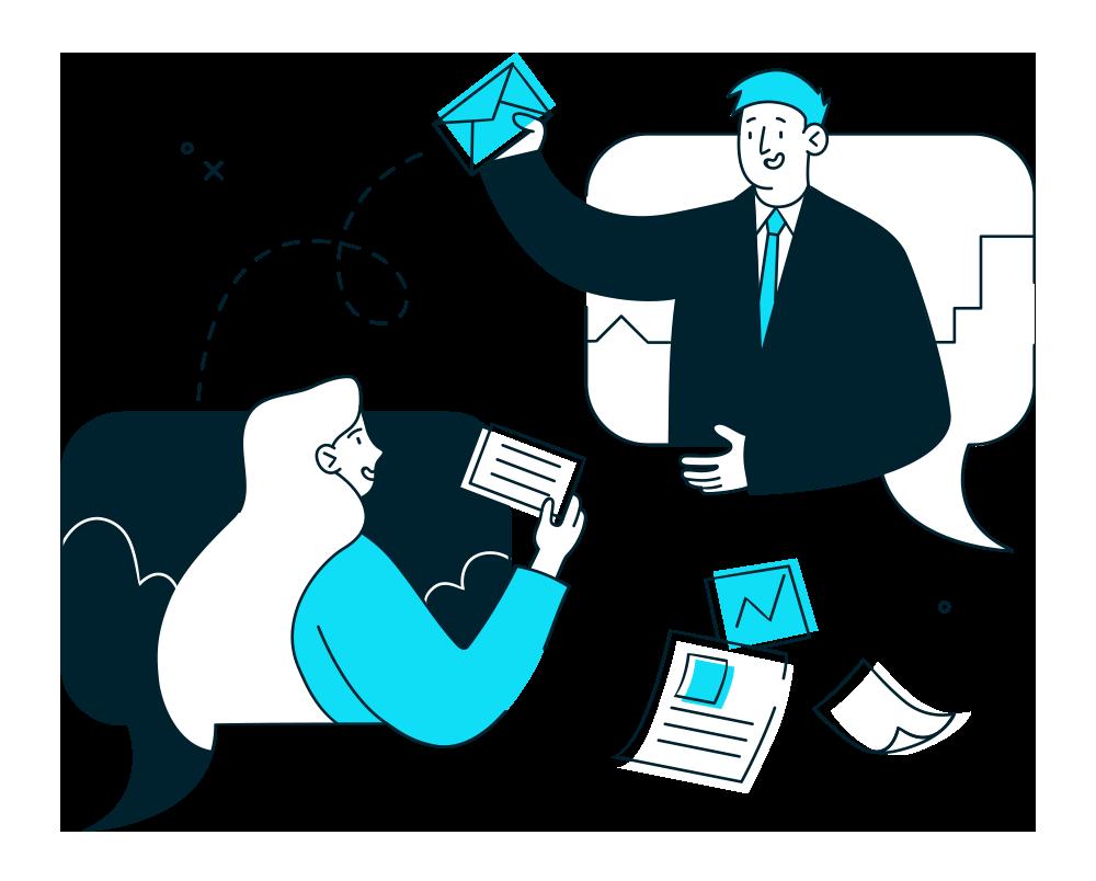 Illustration Depicting Email Marketing